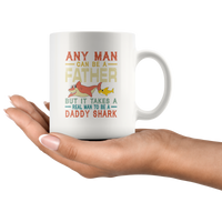 Real man to be a daddy shark vintage, dad, father's day gift coffee mug