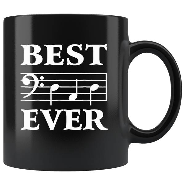 Best Dad Ever Bass Guitar Musician Father's Day Black Gift Coffee Mug
