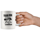August Girl Is A Perfect Combination Of Princess And Warrior Birthday Gift White Coffee Mug