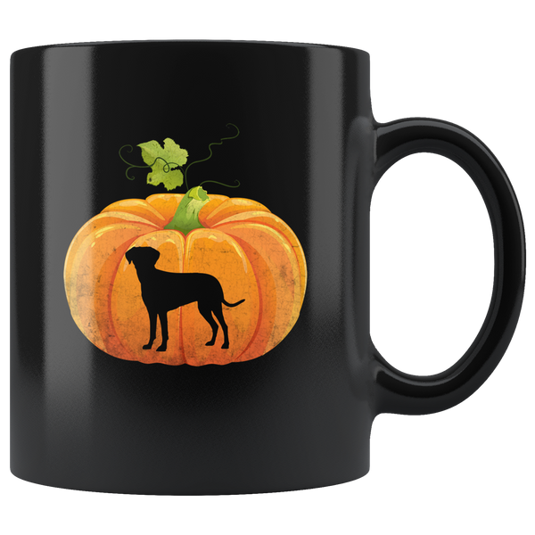 Pumpkin Dog Halloween Gift Black Coffee Mug