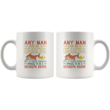 Someone special man to be a grandpa shark vintage, gift for grandpa white coffee mugs