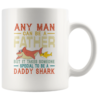 Someone special man to be a daddy shark vintage, dad, father's day gift coffee mug