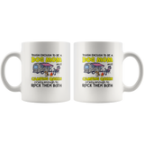 Tough Enough To Be A Dog Mom And Camping Queen Crazy Enough To Rock Them Both White Coffee Mug