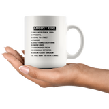 August Girl Will Keep It Real 100% Prideful Loyal To A Fault Savage Over-Thinks Everything Will Bury You With A Smile White Coffee Mug