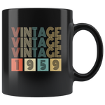 Vintage 1959 birthday black gift coffee mug