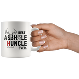 Best asshole huncle ever white coffee mug, gift for uncle hunting