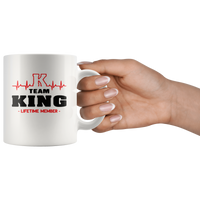 Heartbeat K Team King Lifetime Member white gift coffee mug