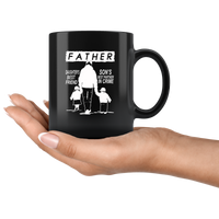 Father daughter's best friend son's best partner in crime gift black coffee mug