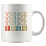 Vintage 1959 birthday white gift coffee mug