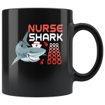 Nurse shark doo black gift coffee mug, gift for nurse shark
