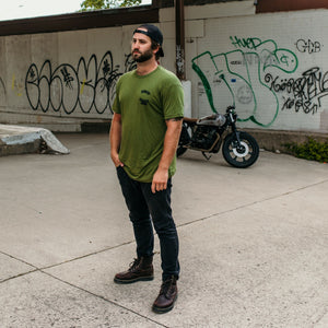BPSC Olive Drab Riding Raven Bamboo Tee