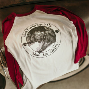 Don't Go Quietly Maroon Baseball T