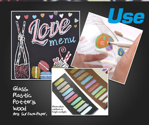 STA 10 Colors Lot Metallic Marker Pen