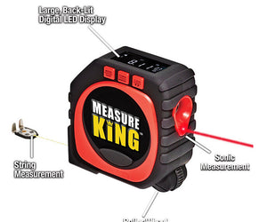 Universal Measuring Tape Black - 3 In 1 Measuring Tape Precise Measure King