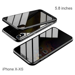 Privacy Protect Double-sided Tempered Glass Cover Case For iPhone 11/XS/XR/8/7 Series