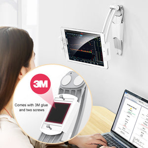 Desktop & Wall Pull-Up Lazy Bracket for Cell Phone / Tablet