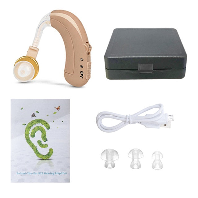 USB Rechargeable Hearing Aids Mini Ear Hearing Amplifier Adjustable