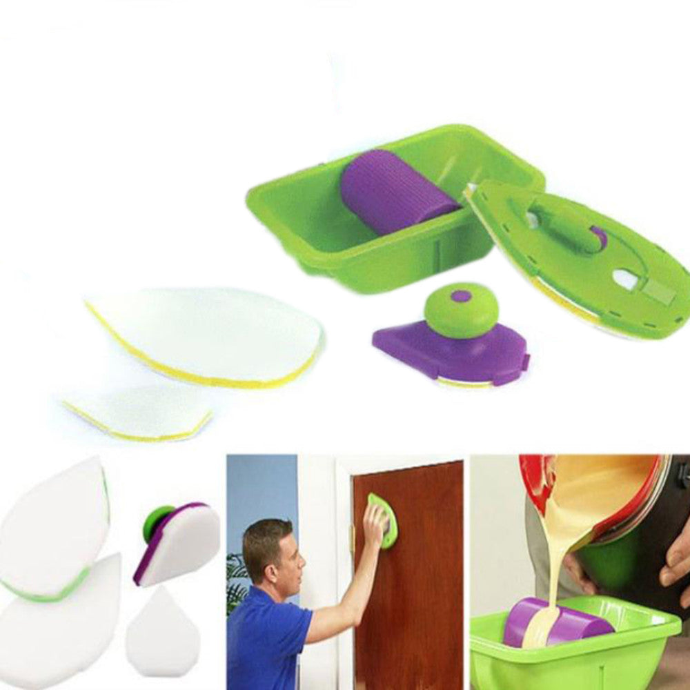 Wall Decorative Paint Roller and Tray Set Painting Brush