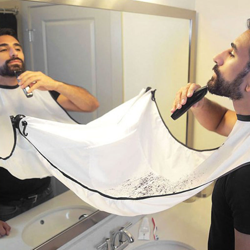 Bathroom Apron Black Beard Apron Hair Shave Apron for Man Waterproof Floral Cloth Household Cleaning Protecter 120x80cm