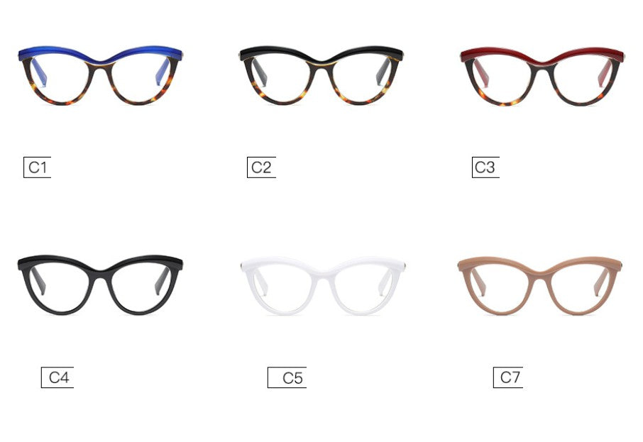 CCSPACE Ladies Eyebrows Square Optical Eye Glasses
