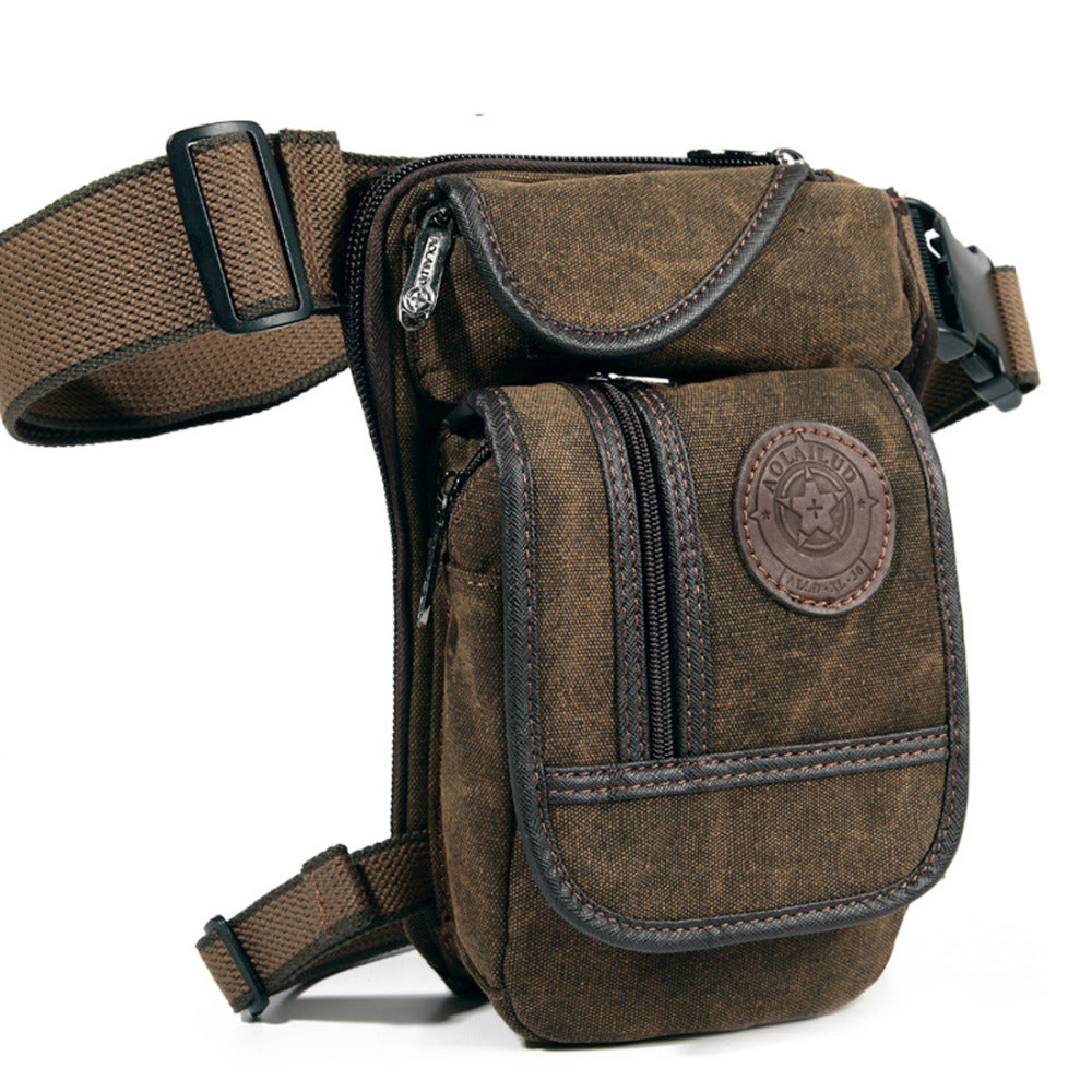 High Quality Leg Bag / Canvas Drop Leg Bag Waist Fanny Pack Belt / Travel Motorcycle Multi-purpose Messenger Shoulder Bags