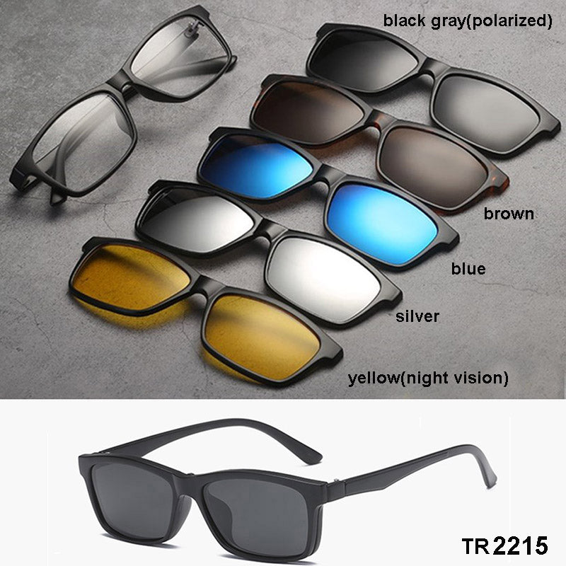 5 in 1 Magnetic Lenses Swappable Sunglasses