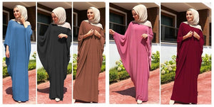 Casual Abaya Maxi Dress Cardigan Loose Long Robe Gowns
