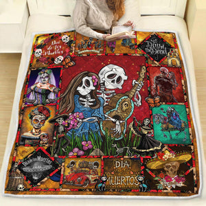 LOVING COUPLE SUGAR SKULL QUILT Q0070WSON