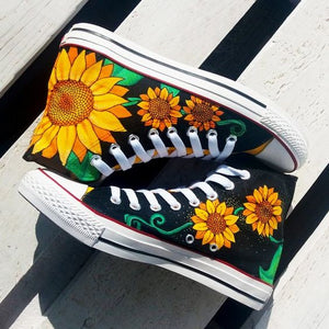 Sunflower High Top Canvas Shoes 5 NS12096IEH