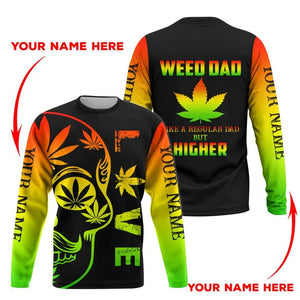 HOODIE WEED DAD 3D ALL OVER PRINT  H005TB CUSTOM NAME