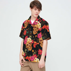 SKULL TROPICAL PATTERN HAWAII SHIRTS S006JPTTD