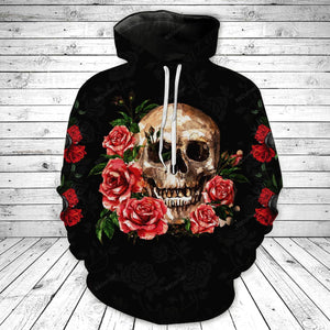 Floral Skull Legging And Hoodie Set PTX200923D