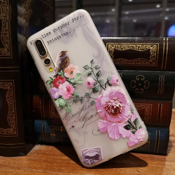 3D Relief Flower Case For Huawei P20 Series- NV