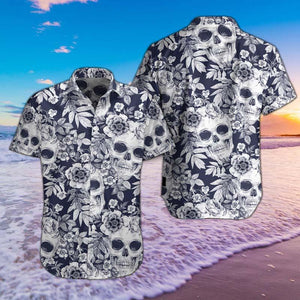 SKULL FLOWER HAWAII SHIRTS S06HNIEH