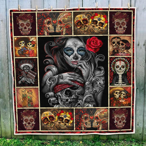 BEAUTIFUL SKULL GIRL QUILT Q0070USON