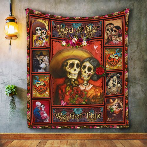 YOU AND ME - WE GOT THIS SKULL QUILT Q0070XSON