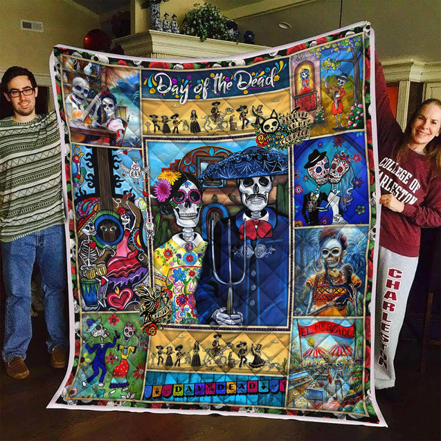 DAY OF THE DEAD CANDY COUPLE QUILT Q0070SSON