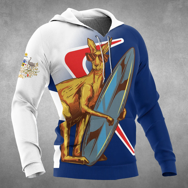 Kangaroo And Boomerang Of Australia Hoodie