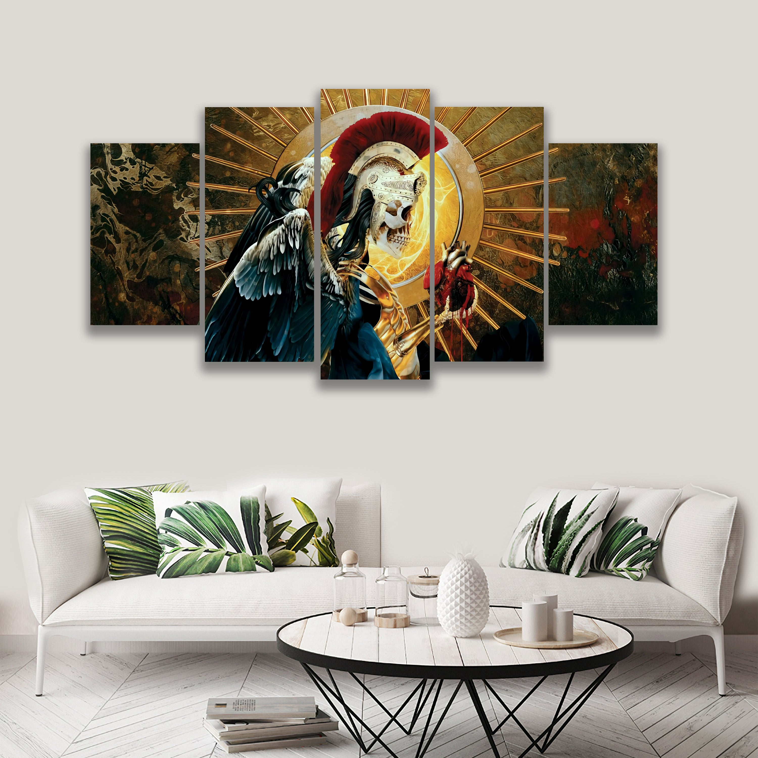 5 PANEL THE SPIRIT AND HEART ON CANVAS WALL CP003XL