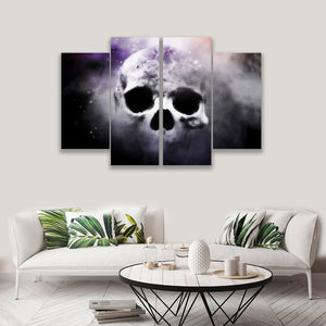 4 PANEL SKULL ON CANVAS WALL CP003XM