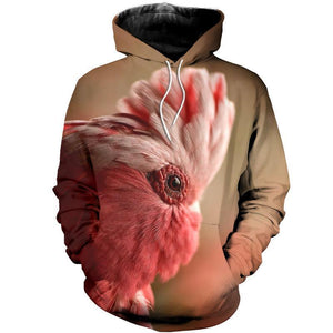3D PRINTED COCKATOO T SHIRT LONG SLEEVE HOODIE DT310501