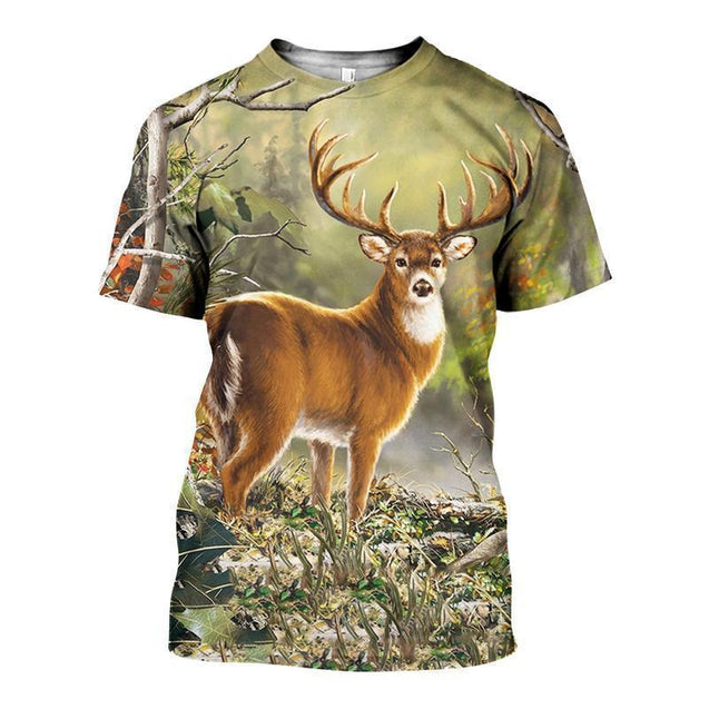 3D ALL OVER PRINTED DEER SHIRTS AND SHORTS DT301007