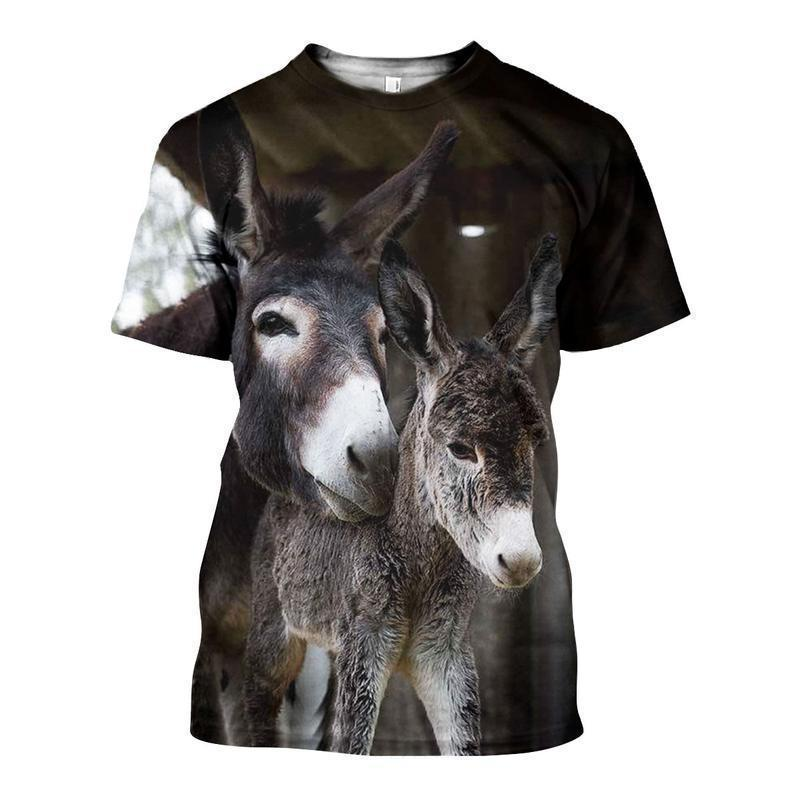 3D ALL OVER PRINTED DONKEY SHIRTS AND SHORTS DT011110