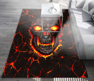 SKULL Living Room Sofa Square Rug FR003YX