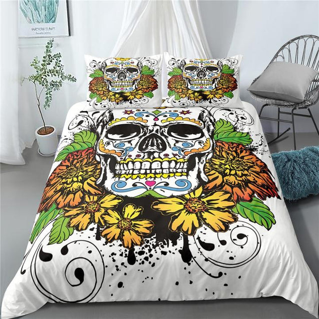 SUGAR SKULL 3D Bedding Set B00EBRSON