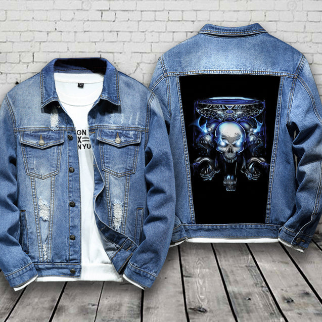 Skull Jean Jacket Customized Limited Edition J0072QSON