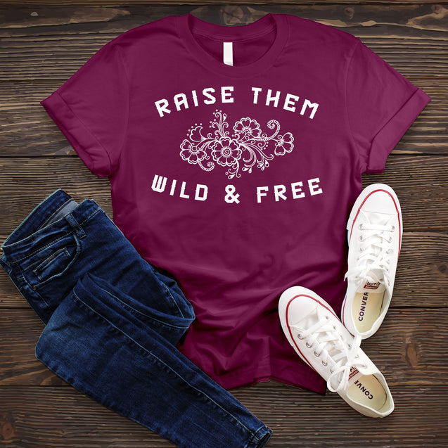 Raise Them Wild and Free Tee