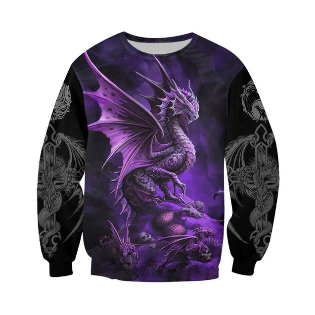 3D Tattoo and Dungeon Dragon Hoodie T Shirt For Men and Women NM050939