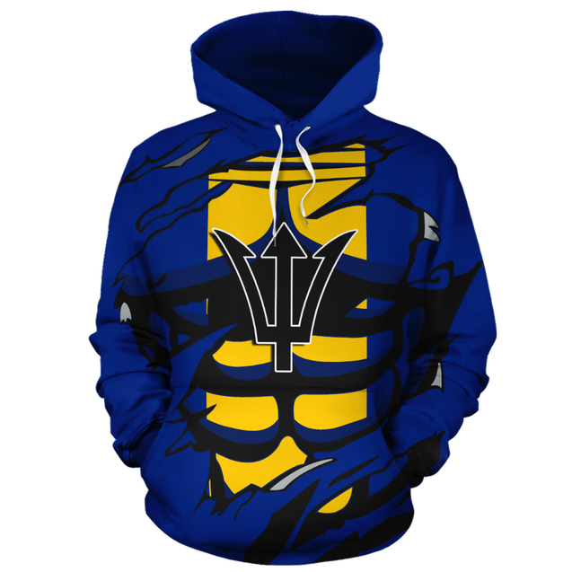Barbados In Me All Over Hoodie blue PL069