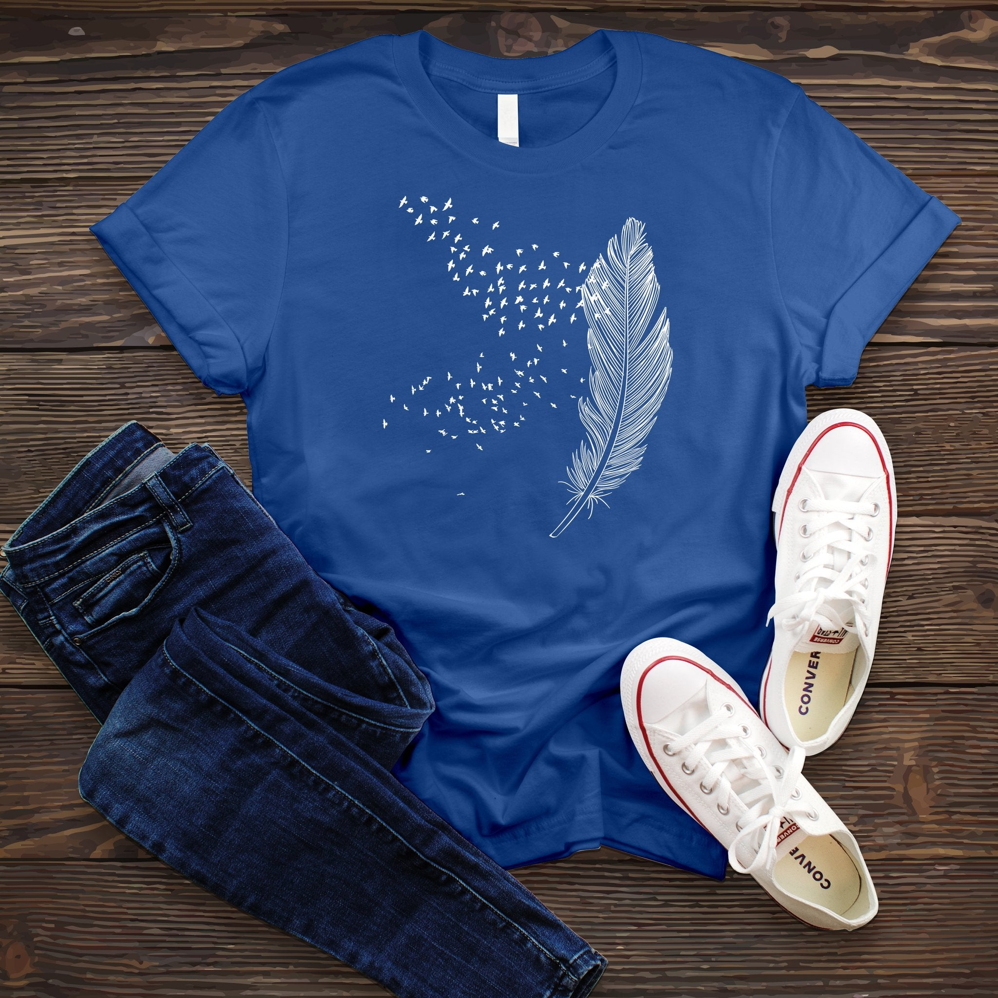 Drifting Feather Tee